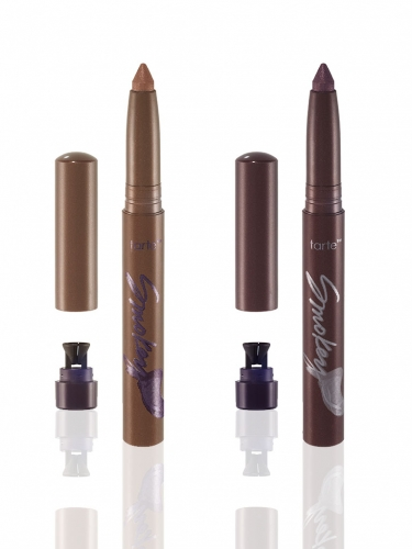 Amazonian clay 2-in-1 smokey shadow liner stick duo - rose gold and plum -