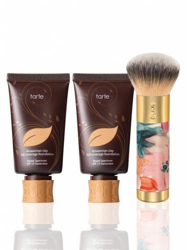 super-size Amazonian clay foundation with brush -