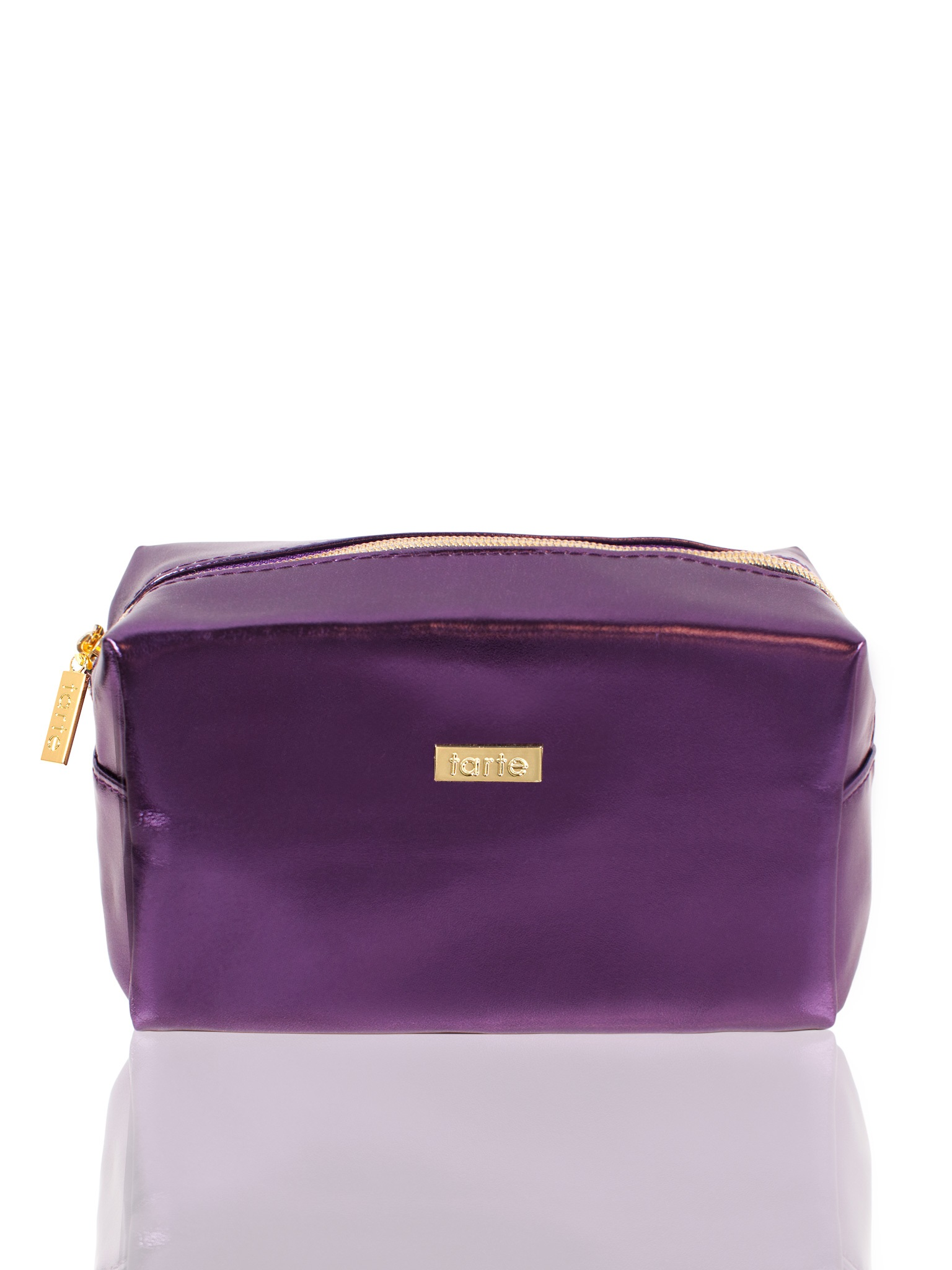 purple metallic bag
