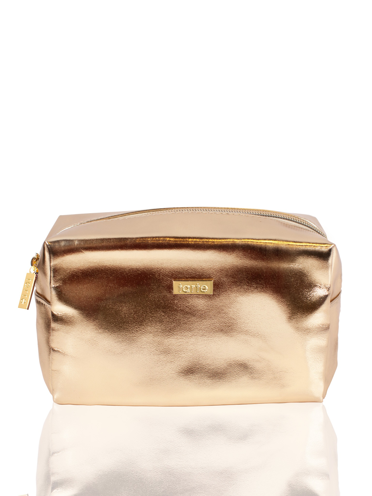 metallic bag in gold