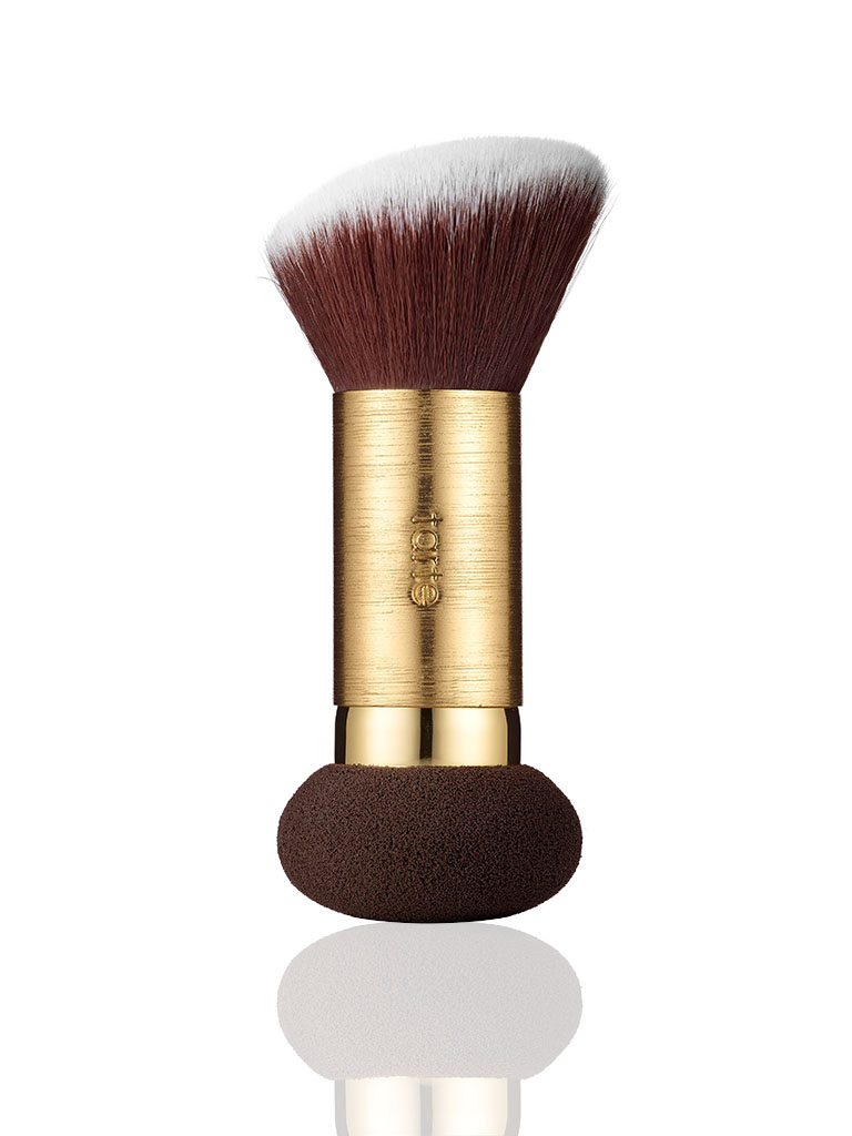 powder foundation brush & removable blending sponge