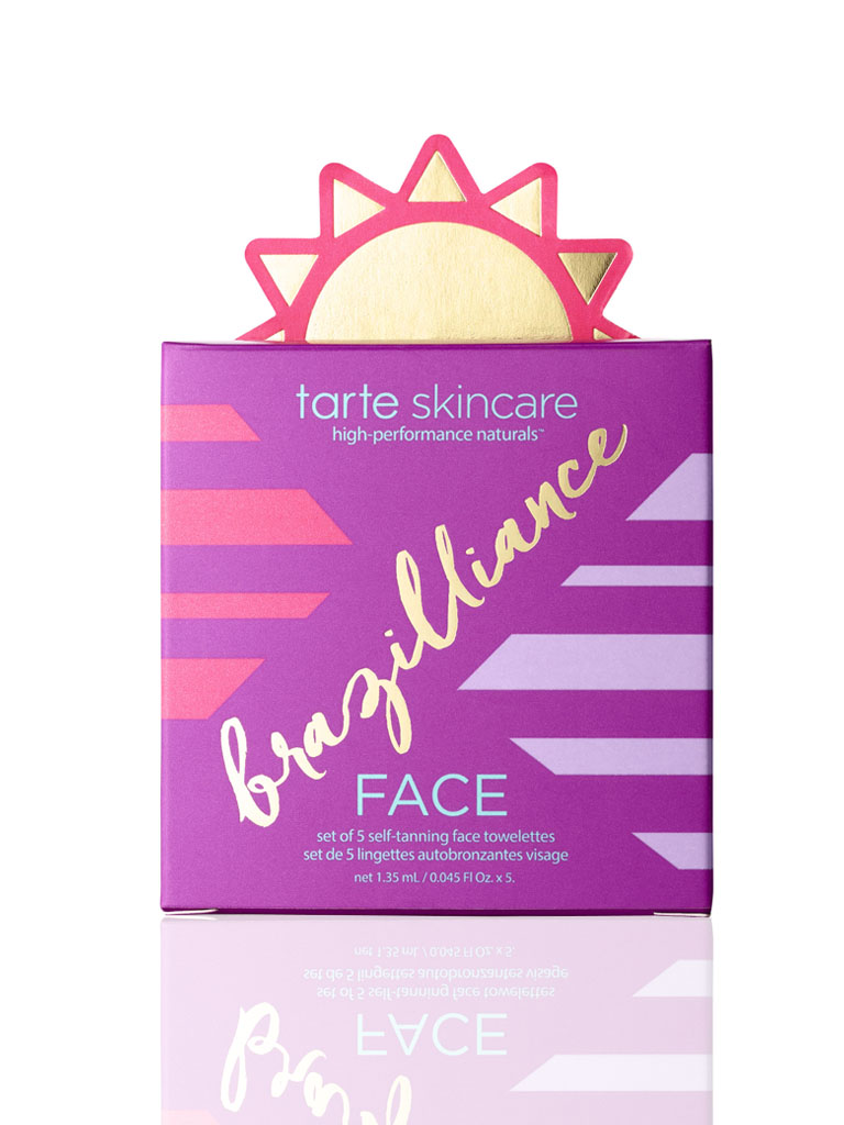 Brazilliance set of 5 self-tanning face towelettes